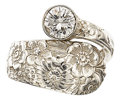 Estate Jewelry:Rings, Diamond, Sterling Silver Ring, Alvin . ...
