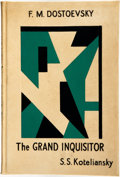 Books:Literature 1900-up, F. M. Dostoevsky. LIMITED. The Grand Inquisitor. ElkinMathews & Marrot, 1930....