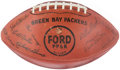 Football Collectibles:Balls, 1962 Green Bay Packers Facsimile Team Signed Football - Awarded to Punt, Pass & Kick Winner....