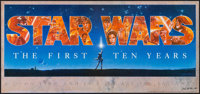 """Star Wars: The First Ten Years (Mind's Eye Press, 1987). Autographed 10th Anniversary Poster (16.5"""" X 36""""). Sc..."""