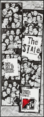 "The State & Other Lot (MTV, 1993). Television Posters (3) (22.5"" X 57.75"") & Album Posters (4)..."