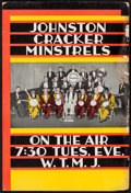 "Movie Posters:Rock and Roll, Johnston Cracker Minstrels & Other Lot (WTMJ, 1930s). RadioPromotional Poster (13.5"" X 20.25"") & Promotional Band Poster(1... (Total: 2 Items)"