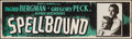 "Movie Posters:Hitchcock, Spellbound (United Artists, R-1949). Silkscreen Banner (24.25"" X82""). Hitchcock.. ..."