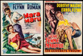 "Movie Posters:Adventure, Mara Maru & Other Lot (Warner Brothers, 1952). Trimmed BelgianPosters (2) (13"" X 18"" & 14.25"" X 18.5""). Adventure.. ...(Total: 2 Items)"