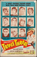 """Movie Posters:Sports, Triple Threat (Columbia, 1948). One Sheet (27"""" X 41""""). Sports.. ..."""