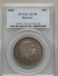 Coins of Hawaii , 1883 50C Hawaii Half Dollar AU58 PCGS. PCGS Population (50/254).NGC Census: (70/176). Mintage: 87,755. ...