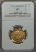 Colombia, Colombia: Charles III gold 2 Escudos 1767 Pn-J AU53 NGC,...