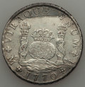 Mexico, Mexico: Charles III Pillar Dollar of 8 Reales 1770 M-MF XF -Cleaned with Chopmarks,...
