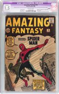 Silver Age (1956-1969):Superhero, Amazing Fantasy #15 (Marvel, 1962) CGC Apparent FR/GD 1.5 Slight to Moderate (C-2) Off-white pages....