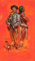 Pulp, Pulp-like, Digests, and Paperback Art, William George (American, b. 1930). Blood Brother, paperbackcover, 1956. Gouache on board. 20.75 x 12.25 in. (sight). S...