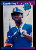 Autographs:Sports Cards, Signed 1989 Donruss Rated Rookie Ken Griffey Jr. #33....