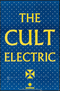 "The Cult: Electric (1940). Album Posters (2) (23"" X 35"") Black and Blue Styles. Musical. ... (Total: 2 Items)"