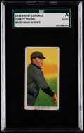 Baseball Cards:Singles (Pre-1930), 1909-11 T206 Sweet Caporal Cy Young, Bare Hand Shows SGC Authentic....