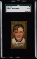 Baseball Cards:Singles (Pre-1930), 1911 T205 Gold Border Christy Mathewson SGC Authentic....