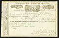 National Bank Notes:Kentucky, Springfield, KY - 30 Shares Stock Transfer Certificate The First NBCh. # 1767. ...