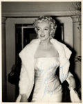 Movie/TV Memorabilia:Autographs and Signed Items, A Marilyn Monroe Signed Black and White Photograph, 1955....
