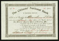 National Bank Notes:Maryland, Frostburg, MD - 4 Shares Stock Certificate The Citizens NB Ch. #4926. ...