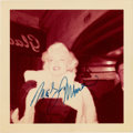 Movie/TV Memorabilia:Autographs and Signed Items, A Marilyn Monroe Signed Color Snapshot, 1955....