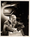 Movie/TV Memorabilia:Autographs and Signed Items, An Alfred Hitchcock Signed Black and White Photograph, Circa1950s....