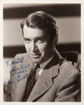 Movie/TV Memorabilia:Autographs and Signed Items, A Jimmy Stewart Signed Black and White Photograph, Circa 1940s....