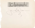 Movie/TV Memorabilia:Autographs and Signed Items, A James Dean Signature, Circa 1955....