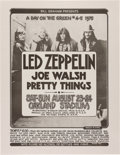 Music Memorabilia:Posters, Led Zeppelin/Joe Walsh, A Day on the Green 4 & 5 Concert Poster(Bill Graham, 1975)....