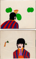 Music Memorabilia:Original Art, Beatles - Set of Two Ringo Animation Cel Set-Ups from YellowSubmarine (United Artists/King Features, 1968)....