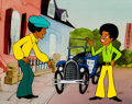 Animation Art:Production Cel, The Jackson 5ive Michael and Jermaine Production Cel andDrawing Group of 3 (Rankin-Bass, 1971).... (Total: 3 Original Art)