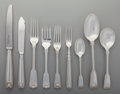 Silver Flatware, British:Flatware, A Garrard and Company Fiddle, Shell, and Thread PatternSilver Flatware Service for Twelve, London, England, cir... (Total:94 Items)