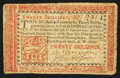 Colonial Notes:Pennsylvania, Pennsylvania April 10, 1777 20s Fine.. ...
