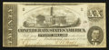 Confederate Notes:1862 Issues, T51 $20 1862 PF-1 Cr. 363. ...