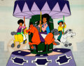 Animation Art:Production Cel, The Jackson 5ive Jackie, Marlon and Tito Production Cel andDrawing (Rankin-Bass, 1971).... (Total: 2 Original Art)