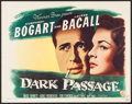 "Movie Posters:Film Noir, Dark Passage (Warner Brothers, 1947). Half Sheet (22"" X 28"") StyleA. Film Noir.. ..."