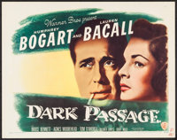 "Dark Passage (Warner Brothers, 1947). Half Sheet (22"" X 28"") Style A. Film Noir"