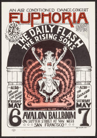"""The Daily Flash at Avalon Ballroom (The Family Dog, 1966). 2nd Printing Poster (14"""" X 20""""). Rock and Roll"""