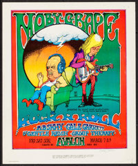 "Moby Grape at Avalon Ballroom (Sound Proof Productions, 1969). Autographed Concert Poster (14"" X 17""). Rock an..."