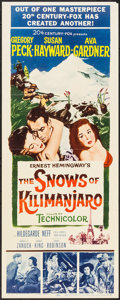 "Movie Posters:Adventure, The Snows of Kilimanjaro (20th Century Fox, 1952). Insert (14"" X36"") and Lobby Cards (3) (11"" X 14""). Adventure.. ... (Total: 4Items)"