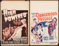 """High Powered & Other Lot (Paramount, 1945). Window Cards (2) (14"""" X 22""""). Drama. ... (Total: 2 Items)"""
