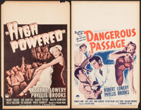 "High Powered & Other Lot (Paramount, 1945). Window Cards (2) (14"" X 22""). Drama. ... (Total: 2 Items)"