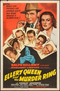 """Movie Posters:Mystery, Ellery Queen and the Murder Ring (Columbia, 1941). One Sheet (27"""" X41""""). Mystery.. ..."""
