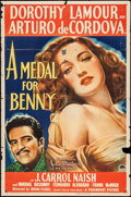 """Movie Posters:Drama, A Medal for Benny (Paramount, 1945). One Sheet (27"""" X 41"""") &Window Card (14"""" X 22""""). Drama.. ... (Total: 2 Items)"""