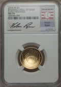 2014-W $5 Baseball Hall of Fame, Nolan Ryan Signature, Early Releases, MS70 NGC. NGC Census: (0). PCGS Population (54)...