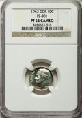 Proof Roosevelt Dimes, 1963 10C Doubled Die Reverse, FS-801 PR66 Cameo NGC. PCGSPopulation (21/34)....