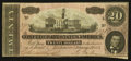 Confederate Notes:1864 Issues, T67 $20 1864 PF-8.. ...