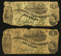 Confederate Notes:1862 Issues, T45 $1 (2) 1862 PF-2 Cr. 342.. ...