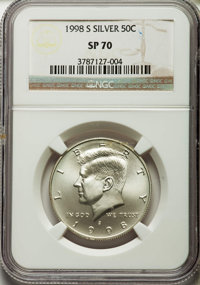 1998-S 50C SMS SP70 NGC. NGC Census: (546). PCGS Population (319). Numismedia Wsl. Price for problem free NGC/PCGS coin...