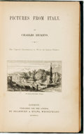 Books:Travels & Voyages, Charles Dickens. Pictures from Italy. London: Published forthe Author by Bradbury & Evans, 1846....