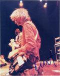 Music Memorabilia:Autographs and Signed Items, Kurt Cobain Signed Color Photo....