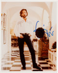Music Memorabilia:Autographs and Signed Items, Eric Clapton Signed Color Photo....