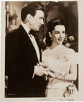 Movie/TV Memorabilia:Autographs and Signed Items, An Elizabeth Taylor Signed Vintage Movie Still Photo....
